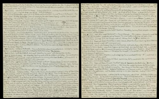 Editor's Holograph Manuscript of THE DIARIES OF LEWIS CARROLL, NOW FIRST EDITED AND SUPPLEMENTED by ROGER LANCELYN GREEN. Vol. I: 1855-67 Vol. II: 1867-98