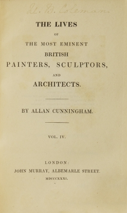 The Lives of the Most Eminent British Painters, Sculptors, and Architects