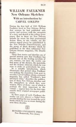 an introduction to the literature and life of william faulkner Analysis of william faulkners nobel prrize of  prize of literature acceptance speech william faulkner was an often  wanted to live a normal life.