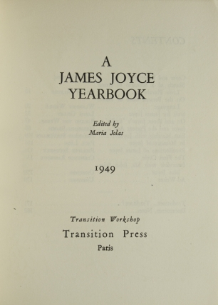 A James Joyce Yearbook ... 1949