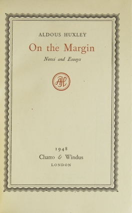 On the Margin. Notes and Essays