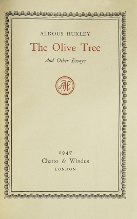 The Olive Tree and Other Essays
