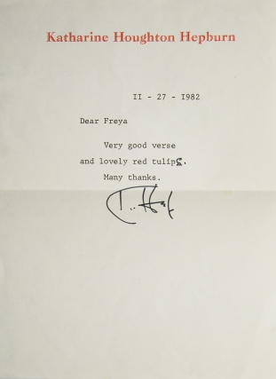 "Archive of 58 Typed and Autograph Letters Signed (""Kate Hep,"" ""K. Hep,"" and ""Kate"") to her literary agent, Freya Manston"
