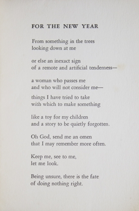 Four Poems from A Form of Women