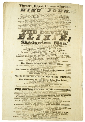 "Broadside for the Theatre Royal at Covent Garden performing Shakespeare's ""Tragedy of King..."
