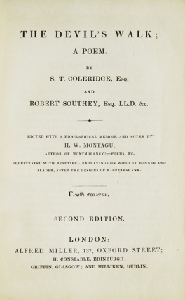 The Devil's Walk: A Poem. Edited...by H.W. Montagu. Samuel Taylor Coleridge, Robert Southey