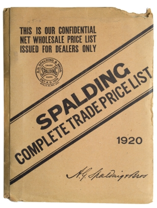 Spalding's Complete Trade Price List. Baseball