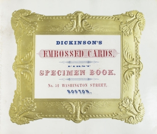 Dickinson's Embossed Cards. First Specimen Book. Embossing Trade Catalogue.