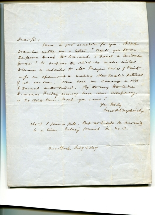 Autograph Letter, Signed, to Charles Leneman, Esq. Evert Duyckinck.