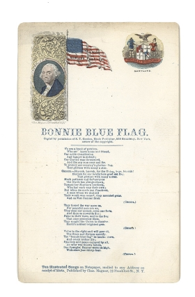 """Bonnie Blue Flag"" with Seal of Maryland on right"