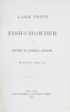 Lake Pepin Fish-Chowder, in Letters to General Spinner