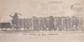 """The Funeral of Old Tammany"". BROADSIDE, . R. Robinson, enry"