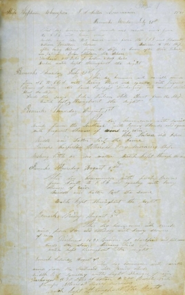 "Manuscript Log of the ""Typhoon"" Ship's Log, James S. Salter, Commander"