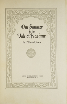 Our Summer in the Vale of Kashmir. [Preface by Mitchell Carroll.]