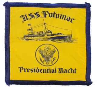 "Pillow Sham for the ""U.S.S. Potomac Presidential Yacht"" Franklin D. Roosevelt"