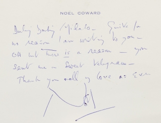 "Autograph Note Signed (""Nol"") to Beatrice Lillie (""Lady Peel"")"