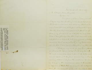 "Autograph Letter, signed (""John S.C. Abbot"") to Mr. Edward Brown Houghton. John Stevens Cabot Abbott"