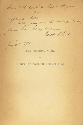 The Poetical Works. Edith Wharton, Henry Wadsworth Longfellow