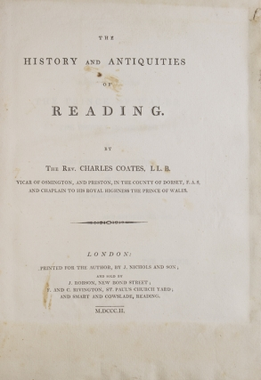 The History and Antiquities of Reading