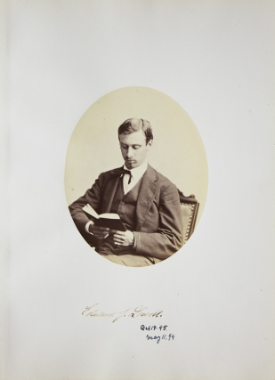Portrait of historian Edward J. Lowell, reading. Harvard University, George Kendall Warren,...