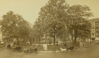 Photograph of Bowling Green, New York City. Rockwood, George.