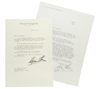 "Two Typed Letters, signed (""Isaac Stern"") to James Heineman. Isaac Stern"
