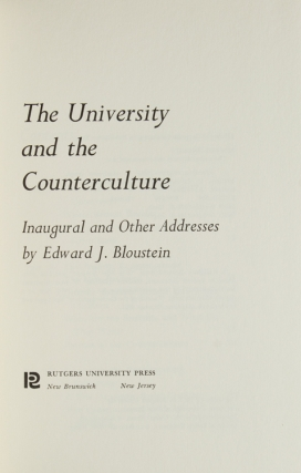 The University and the Counterculture