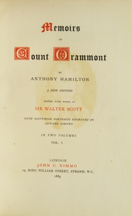 Memoirs of Count Grammont. Edited, with notes, by Sir Walter Scott