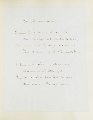 "Autograph Manuscript, fair copy, of ""The Children's Hour,"" Signed (""Henry W. Longfellow"")"