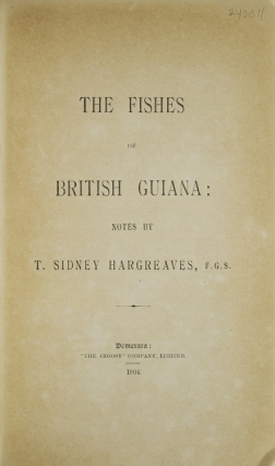 The Fishes of British Guiana