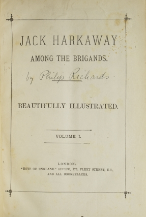 Jack Harkaway Among the Brigands … Volume I & II [complete]