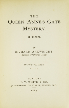 The Queen Anne's Gate Mystery. A Novel