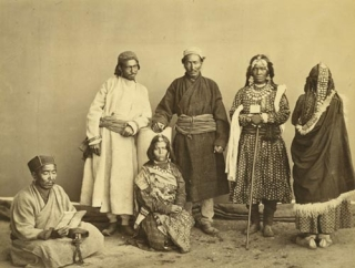 Tibetan natives [pencil caption]. Samuel Bourne.