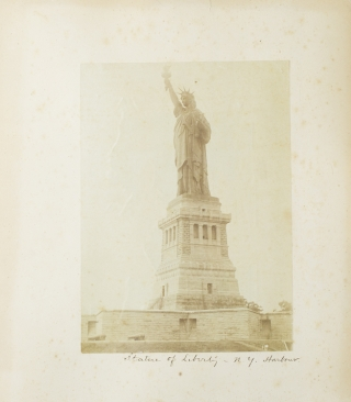 Photographs of the Brooklyn Bridge and Statue of Liberty