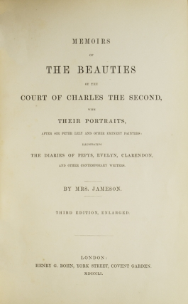 Memoirs of the Beauties of the Court of Charles the Second