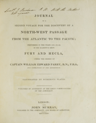 Journal of a second voyage for the discovery of a north-west passage from the Atlantic to the Pacific; performed in the years 1821-22-23