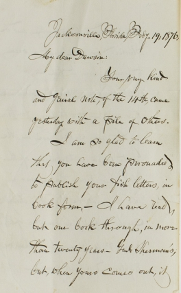 "Autograph Letter, Signed (""F.E. Spinner"") to Angling author George Dawson, dated..."