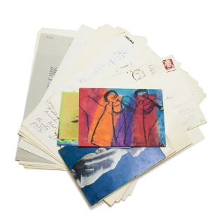 A group of letters from American authors consisting of 36 typed and autograph letters and 7 cards, signed