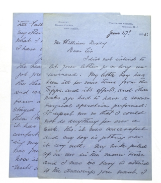 Autograph Letter, signed, to William Doxey, San Francisco Publisher of THE LARK. A. B. Frost