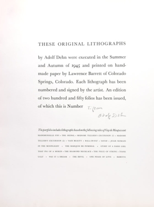 """""""Selected Tales of Guy de Maupassant"""" series, without title-page"""