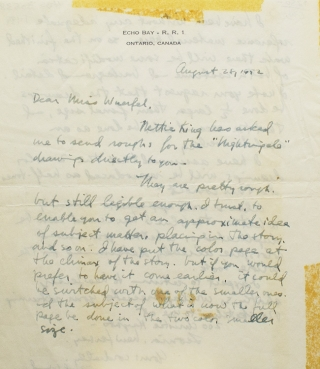 Autograph letter signed 'Lynd Ward' to 'Dear Miss Wuerfel(?)' on Ward's personal stationery. A...