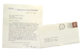 "Typed Letter, signed (""John Hersey""), to Jean Sprain Wilson of NBC News. John Hersey."