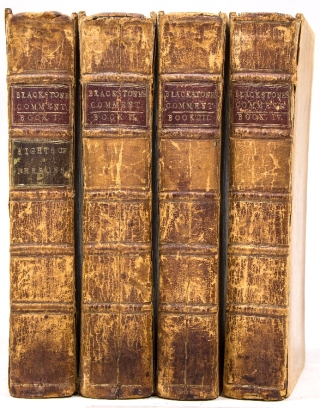 Commentaries on the Laws of England. William Blackstone