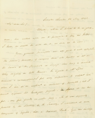Autograph Letter, signed. To James A. Caldwell. James Buchanan