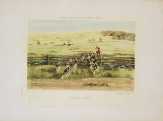 "Two hand-colored prints entitled ""The First Flight"" and ""Full Cry"" with a General Title of each..."