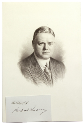 "Signature (""Herbert Hoover"") on autograph card. Herbert Hoover, 31st President of the United States, 1929–1933."