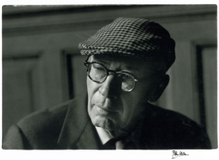 Photograph of Henry Miller at the 1962 International Writers Conference. Henry Miller, Peter Keen.
