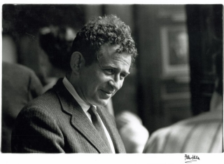 Photograph of Norman Mailer at the 1962 International Writers Conference. Norman Mailer, Peter Keen.