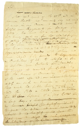 Draft of an Autograph Letter to John Voorhees discussing Forage for the Army. William Paca