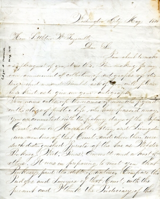 Autograph Letter, signed, to Hon. Littleton W. Tazewell asking for autograph and sending him...